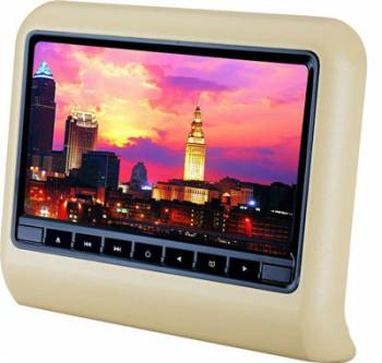 9 Inch Car Headrest DVD Player with Backseat Monitor 800*480 LCD Screen HDMI