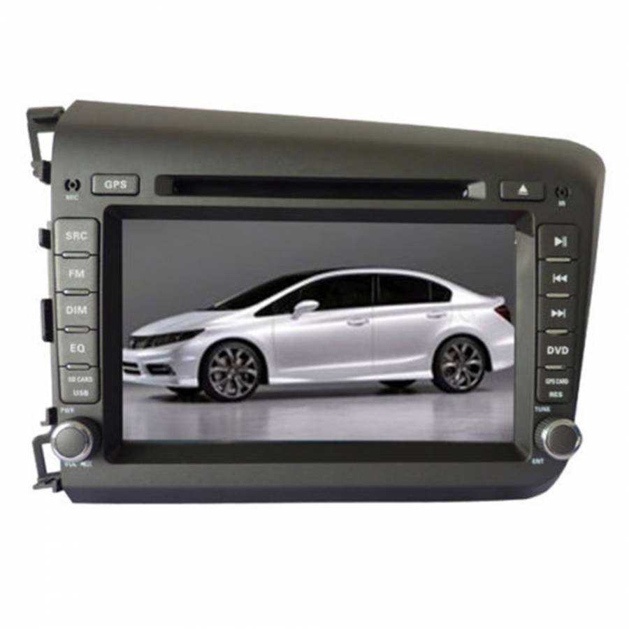 Free Shipping Honda Civic Car DVD GPS 2012-2013 player Radio navigation Stereo TV 8