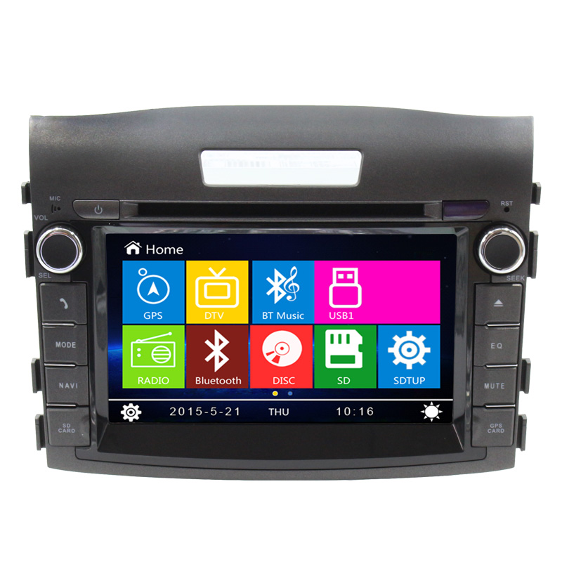 Hot Sale Car DVD Player GPS  Navigation Auto Radio For Honda 2012 CRV Free Shipping